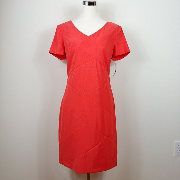0c9d82ee9767 AGB Dresses | Nwt Faux Wrap Coral Terracotta Dress | Poshmark